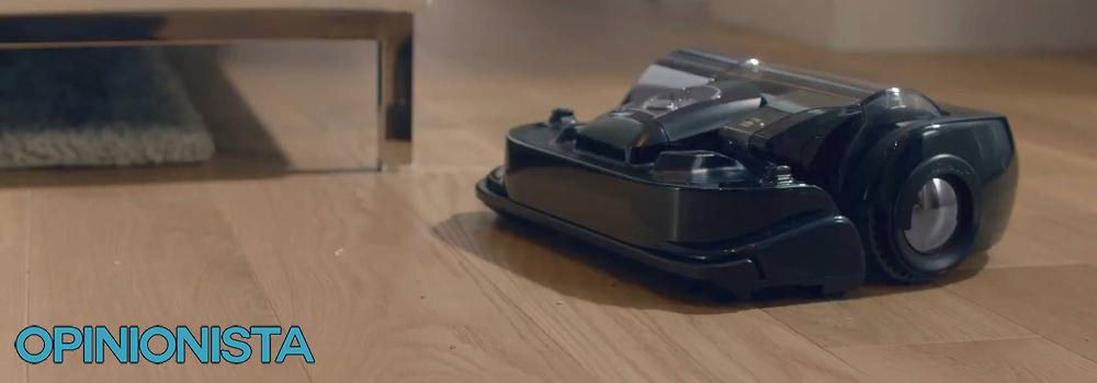 aspiradora robot samsung Limpiando