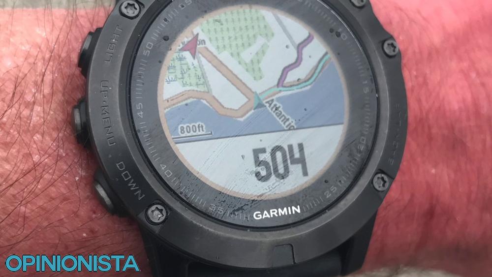 Garmin Fenix 5X reloj de montaña mapa